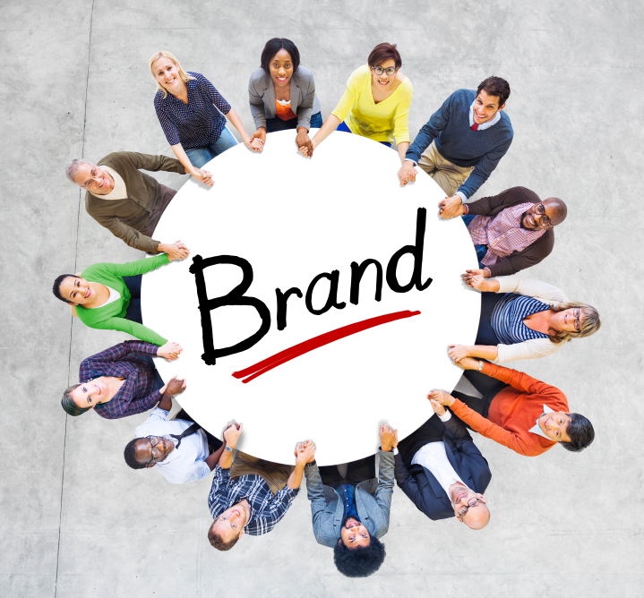 Multi-Ethnic Group of People and Branding Concepts