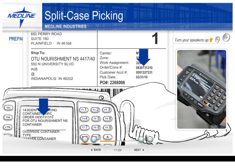 Split case picking