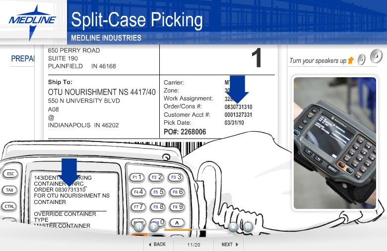 Split case picking