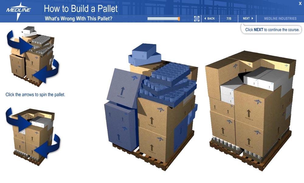 MTA pallet stacking
