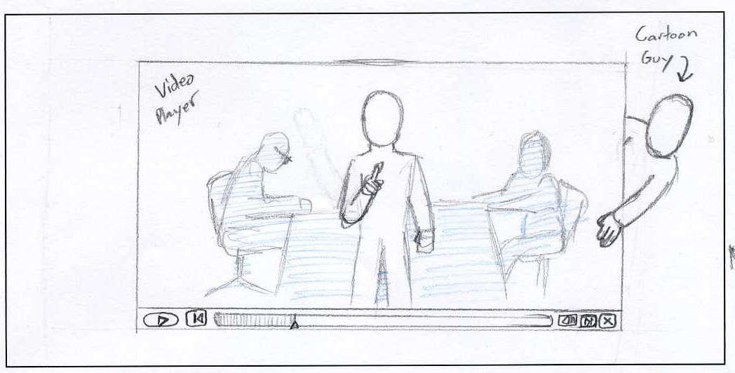 Hand drawn storyboards